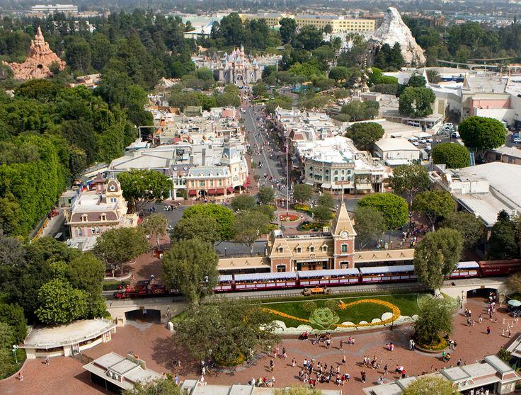Aerial View Of Disneyland Anaheim Ca Disneyland