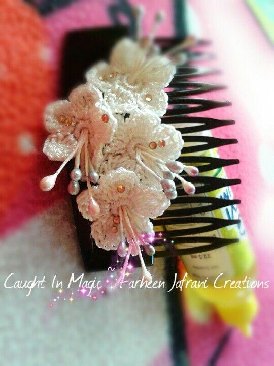 hair combs irish crochet hair accessories scrunchies crochet ideas ...