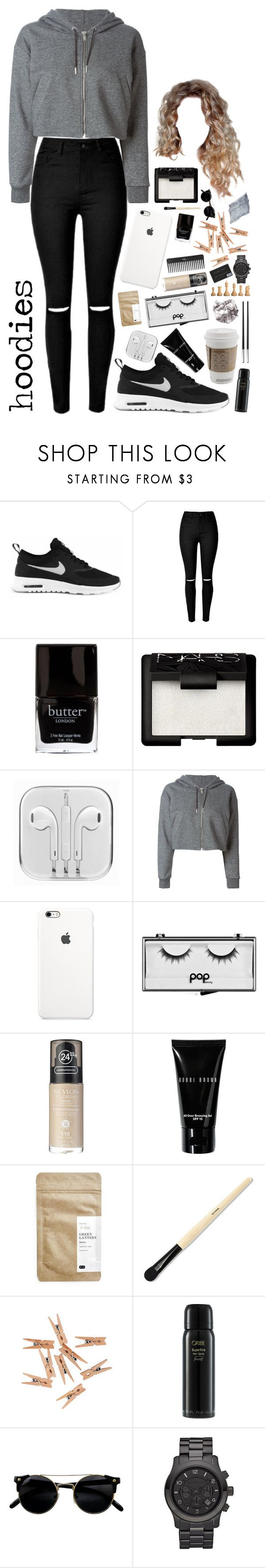 """Sporty Chic"" by alexfreyberg on Polyvore featuring NIKE, NARS Cosmetics, Golden Goose, Pop Beauty, Revlon, Bobbi Brown Cosmetics, Paper & Tea, Oribe, Michael Kors and Sephora Collection"