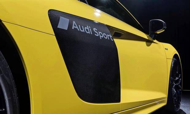 Audi er nu klar til at tilbyde personlige lakeringer på de specielle sideblades, der er på R8-modellerne. Foto: dpp