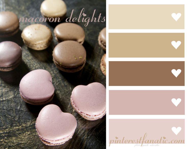 Color Palette Macoron Delights Mocha Pale Pink