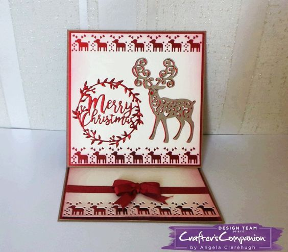 Easel Card made using Sara Signature Scandinavian Christmas Collection – Designed by Angela Clerehugh #crafterscompanion