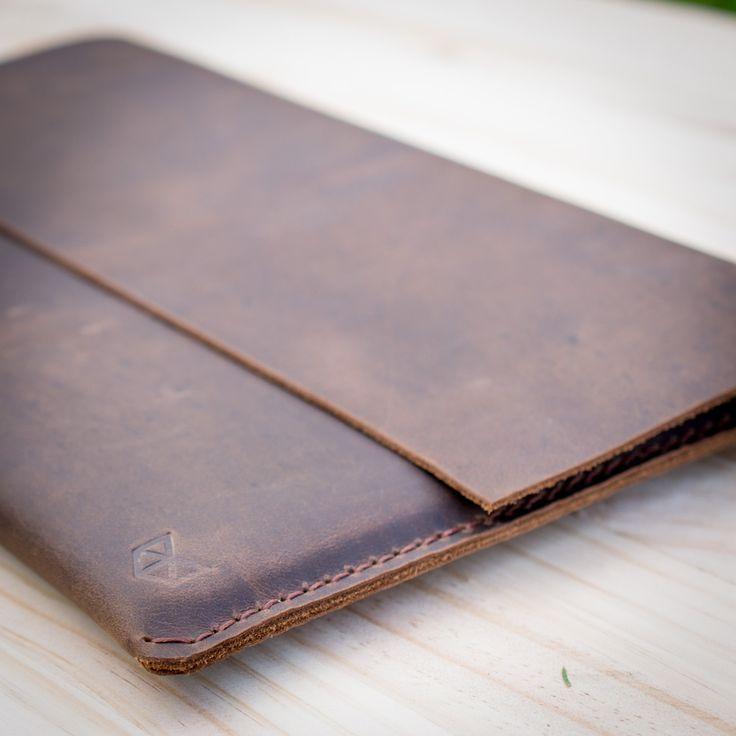 HeteroChromia Dark Brown Macbook Pro Retina 13 15 inch New Macbook 12 inch Men Leather Sleeve Leather Case Leather Portfolio Folio Cover (59.00 USD) by CapraLeather