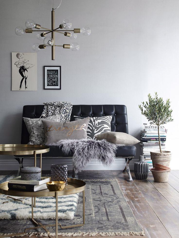 Livingroom by Ellos #elloshome #vardagsrum #soffa #matta #kuddar