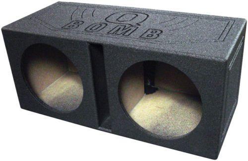Speaker Sub Enclosures: Qbomb12v Qpower Dual 12 Woofer Box Q Bomb -> BUY IT NOW ONLY: $86.91 on eBay!