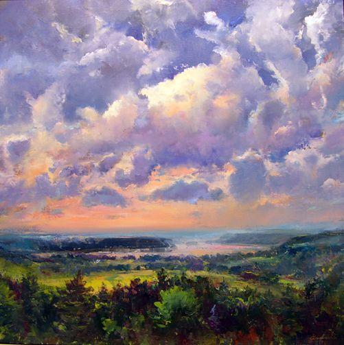 "Robert Andriulli, View Toward Safe Harbor, 2009  Oil on linen, 25x25"",  $1900, Steven Scott Gallery"