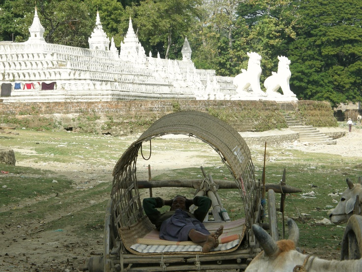 Resting in a holy place - Myanmar