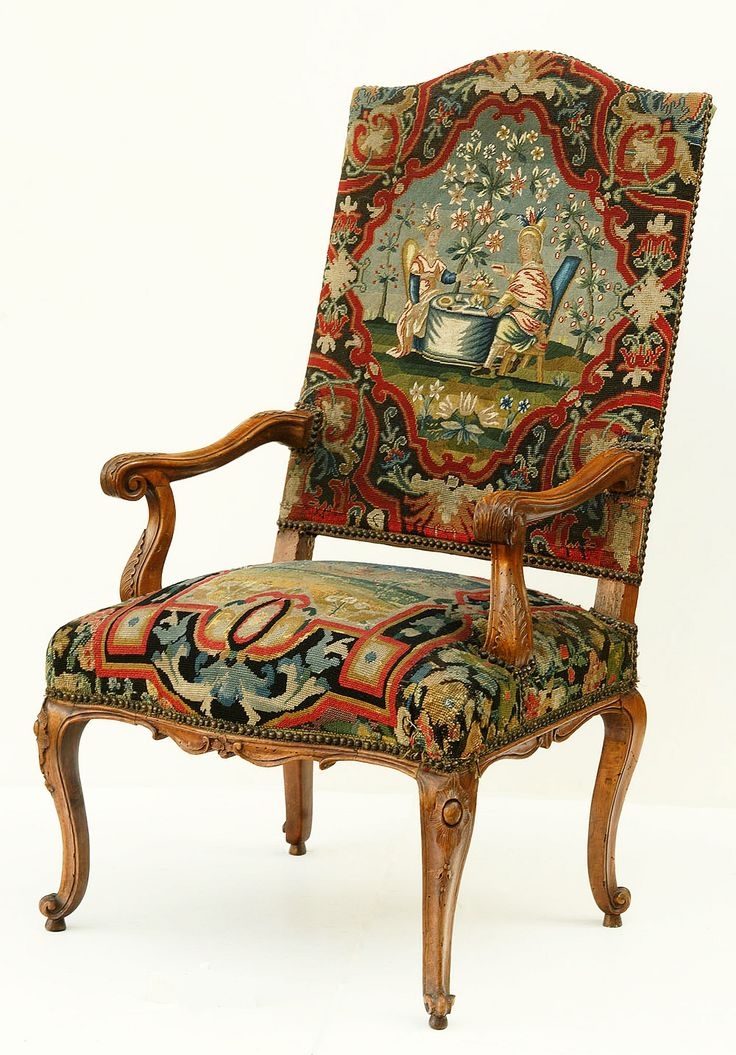 Tapestry Covered Chair By Anonymous, First Half Of The Century, Muzeum  Narodowe W Warszawie (MNW)