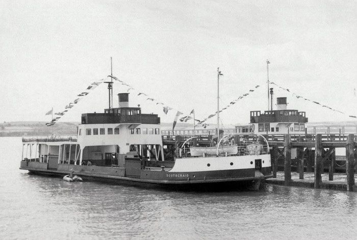 The MV Scotscraig was built for the Dundee Harbour Trust for the Dundee to Newport ferry crossing. The contract price for building the ferry was reported to be £152,450. The Scotscraig was the fourth Caledon built ferry for the River Tay crossing, the others being the Newport II in 1910, William High (later the Sir William High) in 1924 and then the B L Nairn in 1929. The ferry was launched on 23 May 1951 by Mrs F J D Buist who was the wife of the Convenor of the Tay Ferries. The ferry wa...