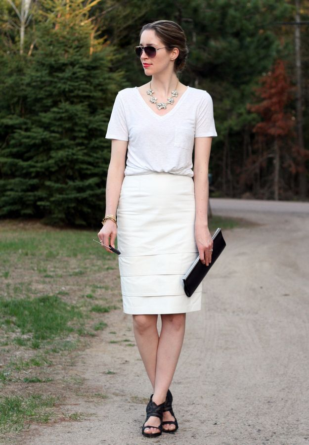 Best 25  White leather skirt ideas on Pinterest | Leather skirt ...