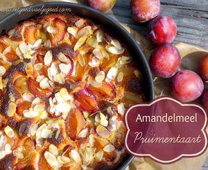 Amandelmeel Pruimentaart - Glutenvrij
