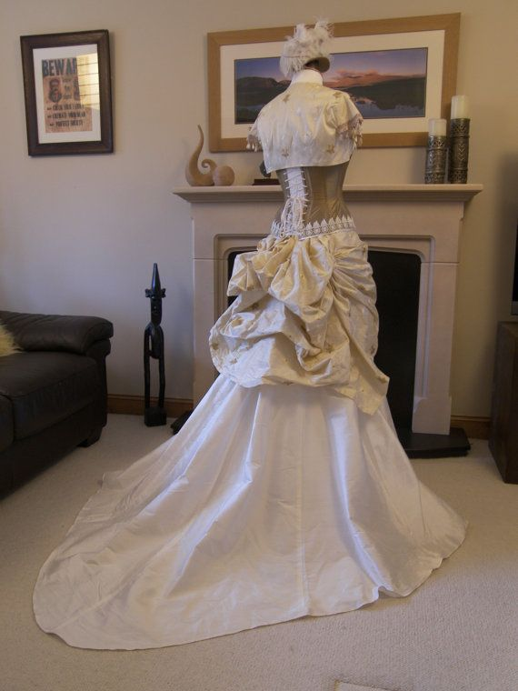 Steampunk wedding dress steampunk wedding steampunk for Victorian bustle wedding dress