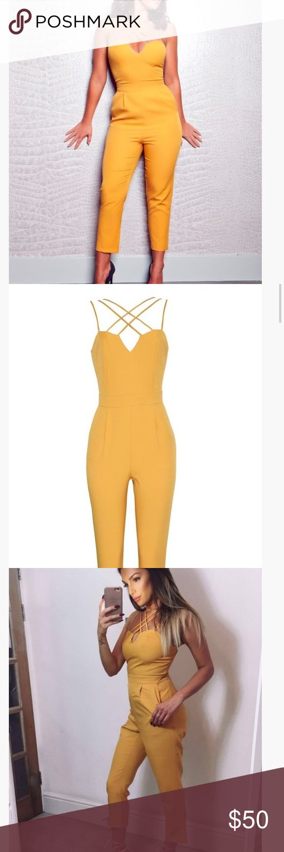 Honeyz VIP Fame Game jumpsuit Great quality yellow jumpsuit. Unfortunately it was too small for me, and the boutique is in the UK so it costs too much to send back. Other