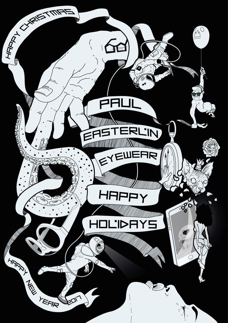 FROM DARK TO BLACK. @DarioMerlo  POSTER ILLUSTRATION for PAUL EASTERLIN on Behance