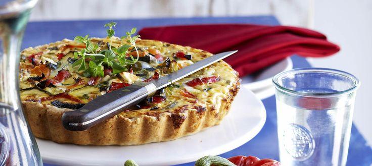 Värikäs paprikapiiras, Colorful bell pepper pie - Ruoka.fi