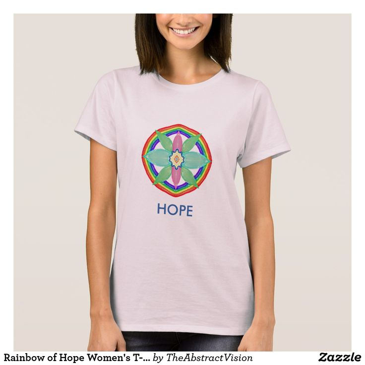 Rainbow of Hope Women's T-Shirt.