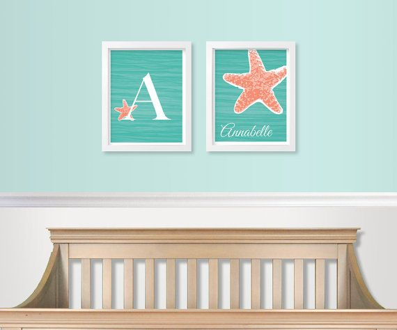 Tropical / Under the Sea Baby Nursery Art SET by DaphneGraphics