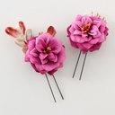 ... 簪姫双花 ornamental hairpin red of ornamental hairpin shop ...