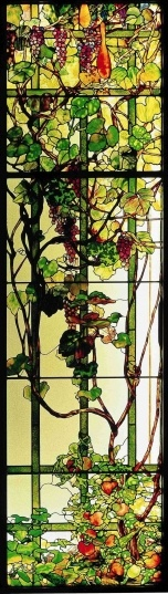 Door Panel, c. 1905                                  	From the August Heckscher House, New York                                	Leaded glass                                	Tiffany Studios