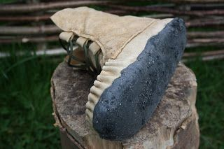 DIY Moccasin boot hybrids - old meets new (traditional buckskin woodland footwear, with a modern twist..)