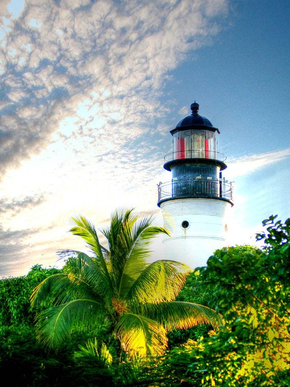 Lighthouse photo Key West photography Florida by freezeframefoto  use xmas25 for 25% discount on your entire order