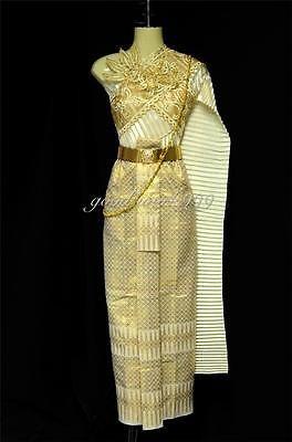 THAI TRADITIONAL DRESS RAMTHAI DANCE COSTUME FESTIVAL CHAKRI T2 (JW206)