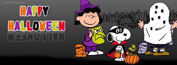 Happy Halloween Peanuts Gang Facebook Cover Coverlayout