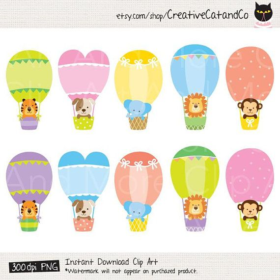 40+ Animals And Balloons Clipart