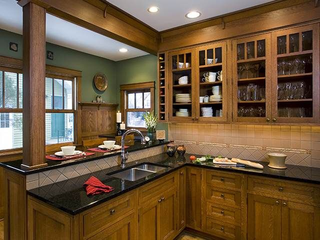 15 best bungalow kitchens images on pinterest bungalow for Bungalow style kitchen cabinets