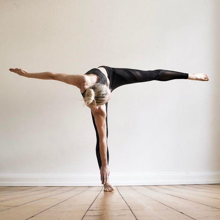 twisted half moon   yoga
