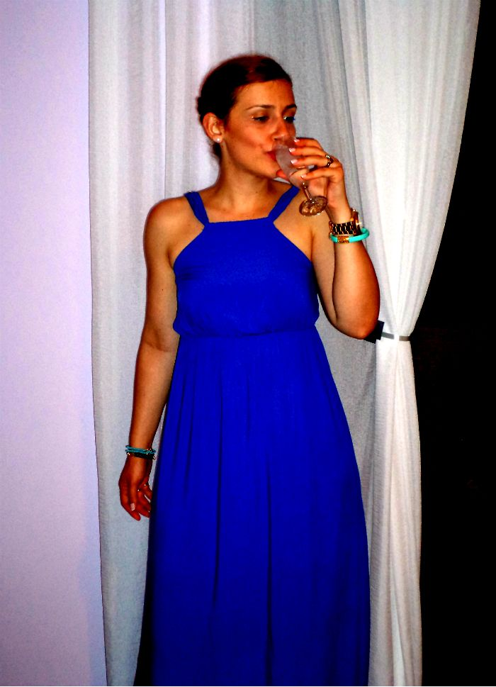 Wearing #Toi_Moi maxi blue dress.