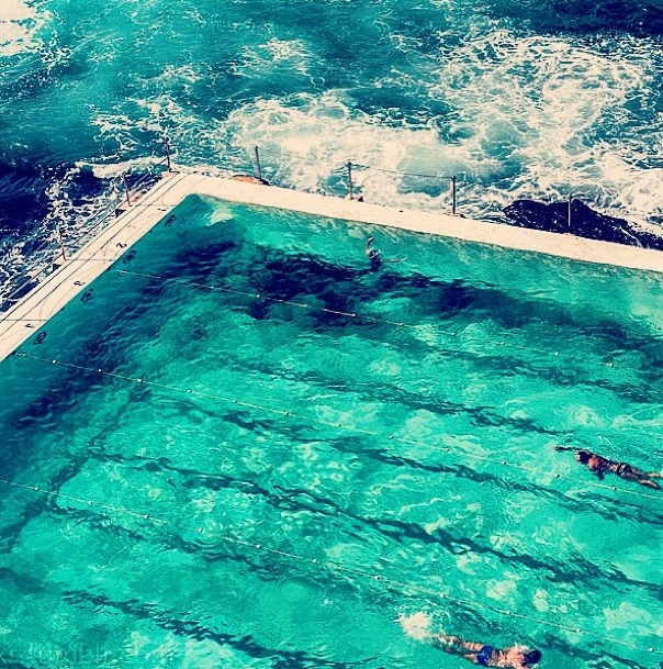 Icebergs Pool, a salt water rock pool at Bondi Beach in New South Wales, Australia.
