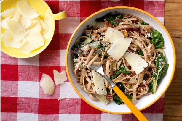 Wholemeal Pasta With Silverbeet And Walnuts Recipe - Taste.com.au