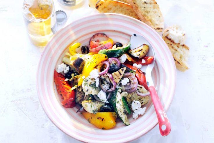 Kijk wat een lekker recept ik heb gevonden op Allerhande! Mediterrane groenten van de barbecue