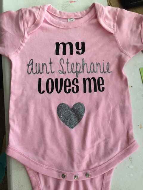 My Auntie Loves Me Shirt - My Aunt Loves Me - Custom Baby Bodysuit - Personalized Baby Gift - Boy Baby Shower Gift - Girl Baby Clothes Name by ShimmerShineDesignCO on Etsy https://www.etsy.com/listing/468904873/my-auntie-loves-me-shirt-my-aunt-loves