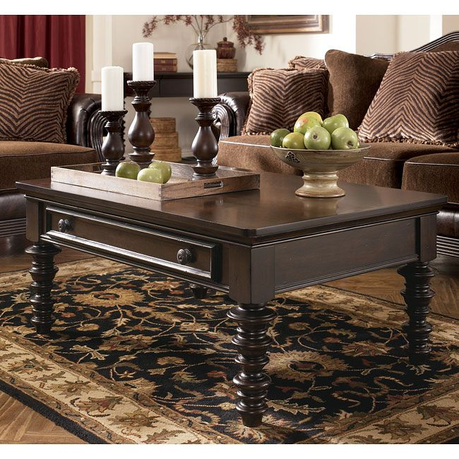 The Rich Beauty Of Key Town Occasional Table Collection Features A Sophisticated Finish And Ornate Details To Create Traditional Designed