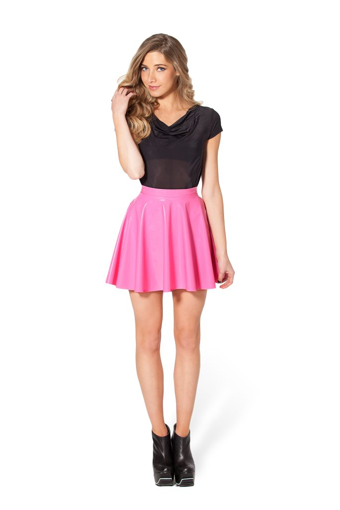 PVC Pink Skater Skirt - LIMITED by Black Milk Clothing ($60AUD) SUPER NINJA LIMITED - 50-99 PIECES
