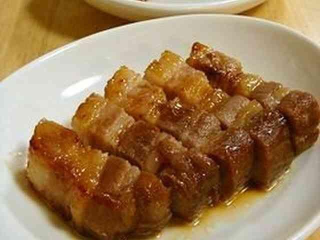豚ばらブロックのオーブン照り焼きの画像