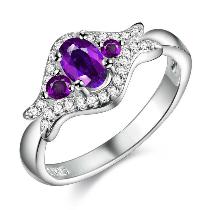 Нежный фиолетовый циркон серебряные позолоченные Кольца Мода Ювелирные Кольца Женщины и Мужчины,/ARLZNOFI PZLTBDNIкупить в магазине yinfen guo's storeнаAliExpress