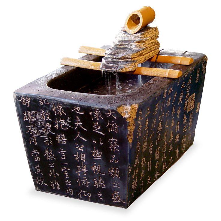 22 best zen tabletop fountain images on pinterest. Black Bedroom Furniture Sets. Home Design Ideas