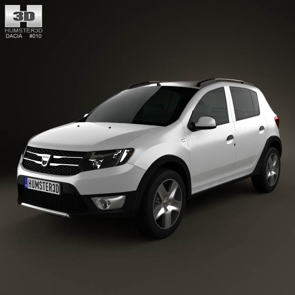 Dacia Sandero Stepway 2013 3D model | Models, Dacia sandero and 3d