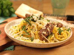 Spaghetti all´amatriciana (kock Paolo Roberto)