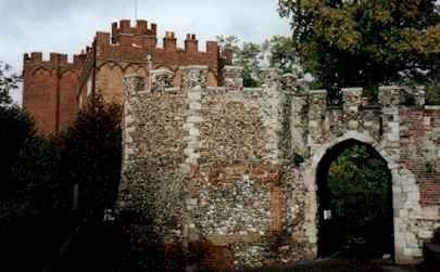 "HERTFORD CASTLE - RICHARD De CLARE, 6th Earl of Herford, 8th Earl of Clare, Earl of Glouchester 1222-1262 son of Gilbert De Clare and Isabel Marshal. His wife was Maude De Lacy, Countess of Lincoln, Hertford and Gloucester 1223-1288. Richard was my 22nd G GRAND UNCLE and the father of Gilbert ""The Red Baron"" De Clare."