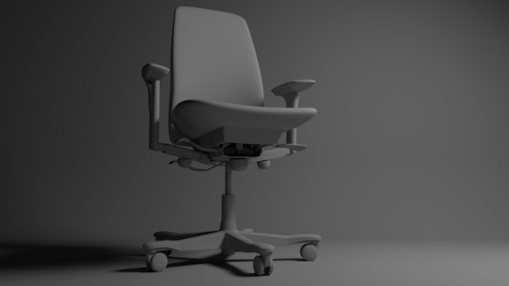 Office Chair. Modeled in 3ds Max, rendered in Arnold