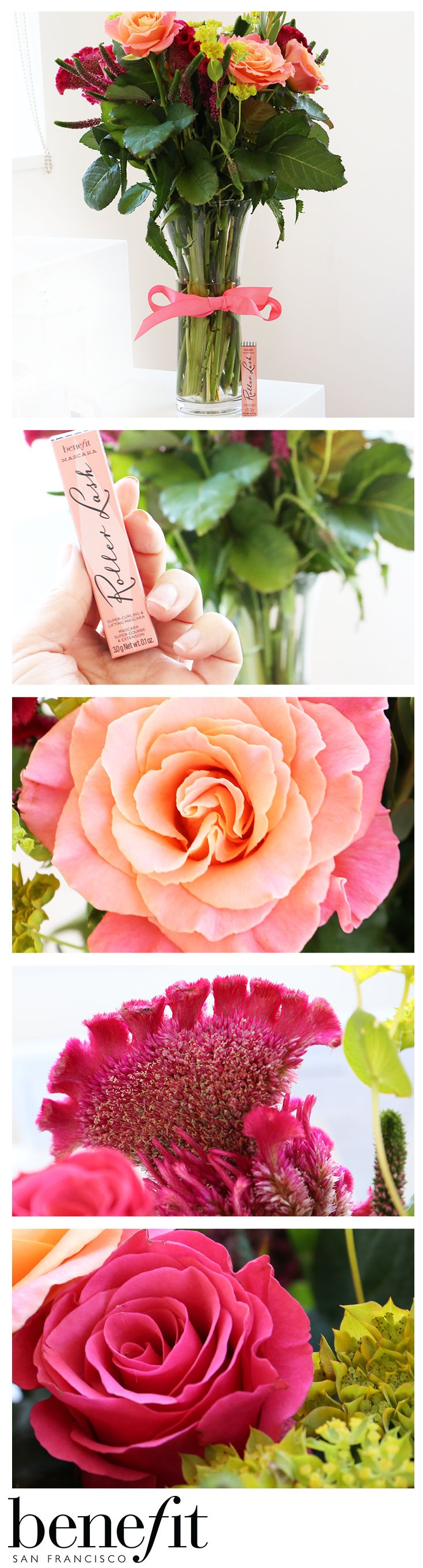 """The gorgeous """"Benebabe"""" bouquet, available exclusively from Bloom and Wild! Get yours straight through the letter box and DIY on your flower arranging, plus get a FREE mini roller lash xx"""