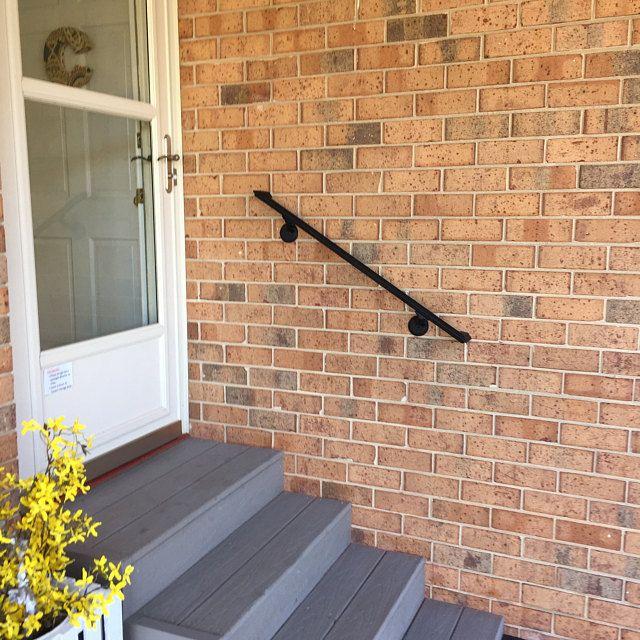 3ft Wrought Iron Handrail Step Rail Stair Rail With Decorative Etsy In 2020 Iron Handrails Wrought Iron Handrail Step Railing