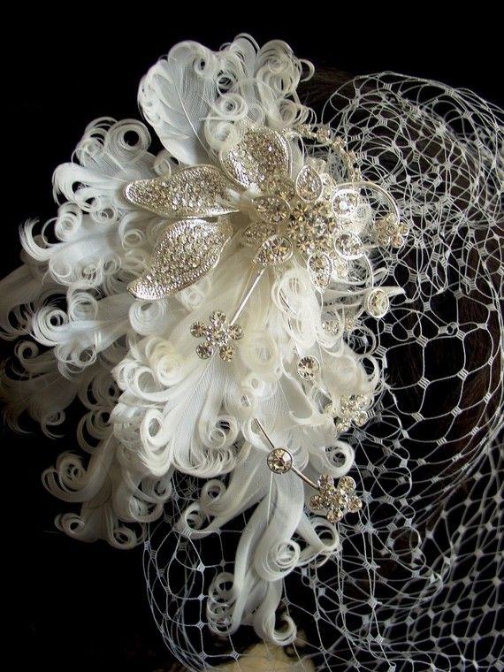 Wedding Headpiece with Bridal Birdcage by FascinatingCreations, $86.95