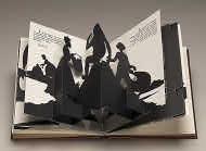 Kara Walker (artist)  American, born 1969  Freedom, a Fable: A Curious Interpretation of the Wit of a Negress in Troubled Times, 1997  bound volume of offset lithographs and five laser-cut, pop-up silhouettes on wove paper  overall: 23.8 x 21.3 cm (9 3/8 x 8 3/8 in.)  Dorothy and Herbert Vogel Collection