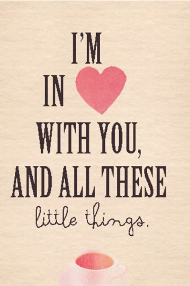 """Quote that is from the One Direction song, """"Little Things."""" ❤❤❤"""