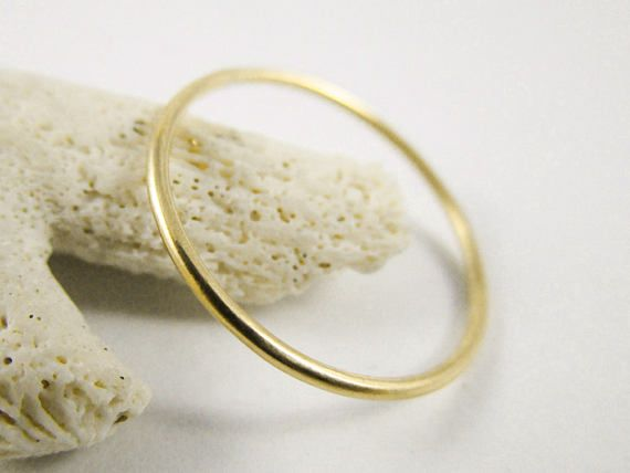 Gold Stackable Ring 14k 18g Yellow Gold Filled Minimalist High